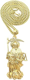 santa muerte necklace gold