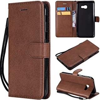 Leather Case Solid Color PU Leather Flip Wallet Bracket All-Inclusive Sleeve Design for Samsung Galaxy A5 2017 A520 (Color...