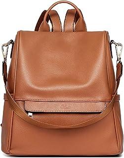 Cluci Damen-Rucksack, Geldbörse, modisches Leder, groß Designer-Reisetasche, Damen-Schultertasche
