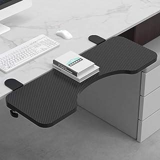 "OUGIC Ergonomics Desk Extender Arc Tray, 25.2""x9.5"" Punch-Free Clamp on, Foldable Keyboard Drawer Tray, Table Mount Armres..."