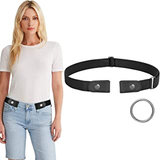 WERFORU No Buckle Women and Men Stretch Belt Elastic Waist Belt for Jeans Pants Dresses