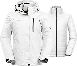 Wantdo Women's 3-in-1 Waterproof Ski Jacket Windproof Winter Snow Coat Raincoat