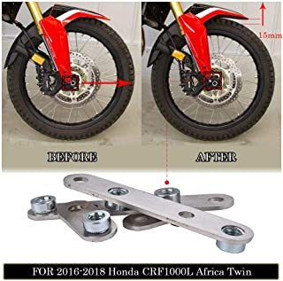 FATExpress Stainless Steel Motorcycle Front Fender Mudguard Lift Riser Bracket Rising Kit for 2016 2017 2018 2019 Honda CRF1000L Africa Twin 16-19