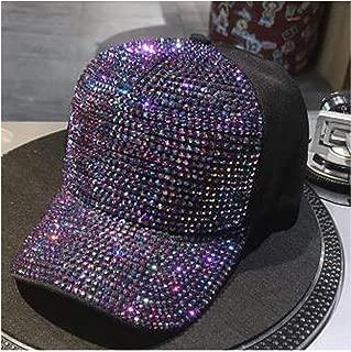MingDe Sports Rhinestones Pearl Sequins Baseball Cap for Women Summer Cotton Hat Girls Snapback Hip Hop Hat