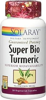 Solaray Guaranteed Potency Super Bio Turmeric Micronized, Veg Cap (Btl-Plastic) 300mg | 30ct