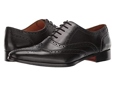 CARLOS by Carlos Santana Soul (Black Full Grain Calfskin Leather) Men