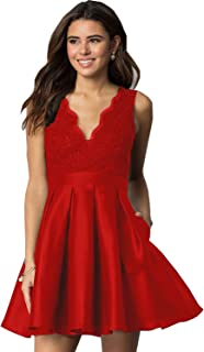 red short gown