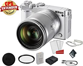 Nikon 1 J5 Mirrorless Digital Camera Kit with 10-100mm Lens | Full HD 1080p/60 Video| Bundle with Carrying Case + UV Filter + More- International Model with 2 Year Warranty
