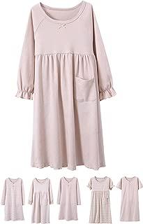 Girls Kids Organic Cotton Nightgown Sleepwear Dress Soft Home Dress Summer Autumn Short Long Sleeve Soft Wear 4-12T