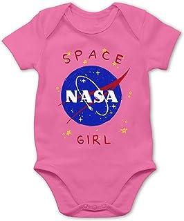 Shirtracer Up to Date Baby - Space Girl - Baby Body Kurzarm für Jungen und Mädchen