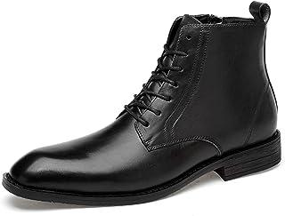 [ウェッション] WESHION メンズ 本革 ビジネスシューズ ロングノーズ ビジネスブーツ ハイカット フォーマル レースアップ サイドジップ 紳士靴 男性 面接 通勤 出張 5カラー 22.5cm~28.5cm