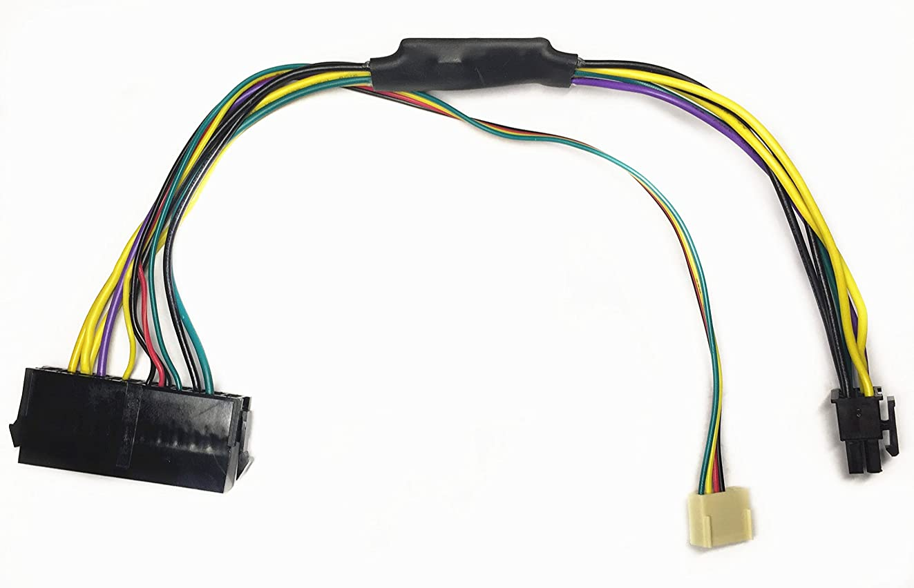 EZSync ATX PSU (24-Pin) to HP Motherboard (6-Pin PCI-E, 2 Ports) Power Adapter Cable for HP Z220/Z230 Workstation, 11 inches and 18 AWG, EZSync910