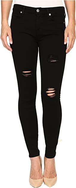 Ankle Skinny w/ Destroy in Slim Illusion Luxe Black