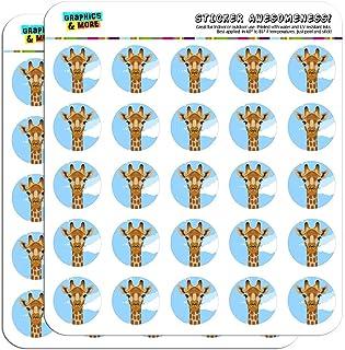 "Giraffe Zoo Animal Safari 1"" Planner Calendar Scrapbooking Crafting Stickers White SCRAP.STICK01.07305"