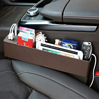 Car Stowing tidying Universal Car Multi-Functional Charger Console Side Pocket Seat Gap Side Storage Box, with 2 USB Ports...