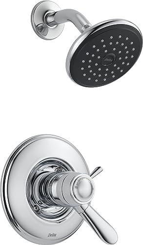 popular Delta lowest T17T238 Lahara Tempassure 17T Series Shower Trim, Chrome, wholesale 10.60 x 14.50 x 14.00 inches outlet sale