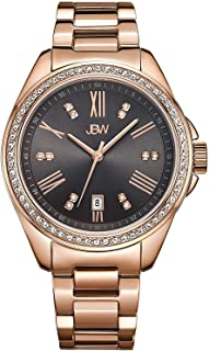 JBW Watch for Men Studded with 12 diamonds, Stainless Steel Band - J6340A