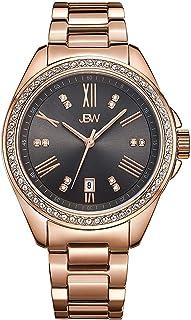 ساعة للرجال من جيه بي دبليو مرصعة بعدد 12 قطعة الماس وسوار ستانلس ستيل- J6340A