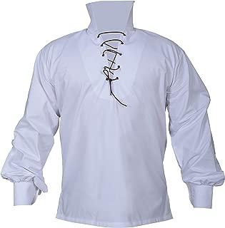 Men 's Scottish Utility Kilt Shirt Jacobite Jacobean Ghillie Shirts