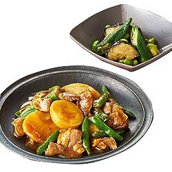 [冷凍] 3人前 ミールキット Oisix ごはんがすすむ豚すね肉の韓国風みそ煮 揚げなす おくら 枝豆の彩りナムル副菜付き 調理約20分