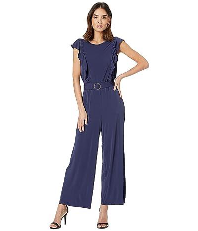 MICHAEL Michael Kors Solid Ring Belt Jumpsuit (True Navy) Women