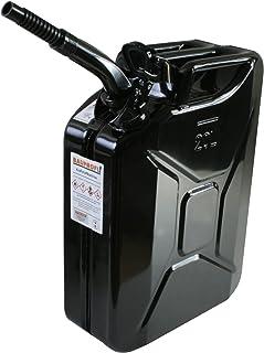Stahlblechkanister schwarz 20 Liter + Auslaufrohr flexibel Benzinkanister Kanister