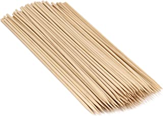 """BambooMN 18"""" Long x 5mm Thick Sharp Point Bamboo Kabab Satay BBQ Skewers Party Supplies, 100 Pieces"""