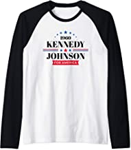 JFK Shirt John F Kennedy Johnson Campaign Raglan Baseball Tee