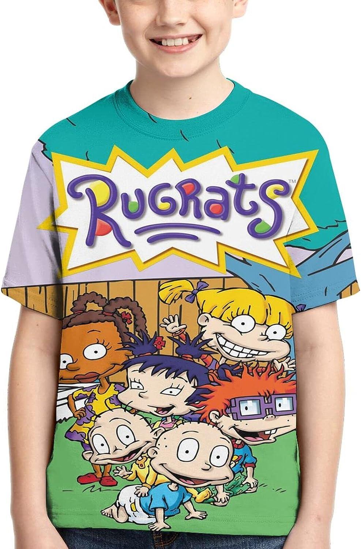 LIUZHUQIN Rugratst-Shirt 3D Printing Boy Short Sleeve Shirt Fashion