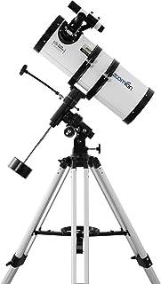 Zoomion Gravity 150/750 EQ Telescopio Reflector astronómico con trípode, Montura y oculares para Adultos y recién llegados...