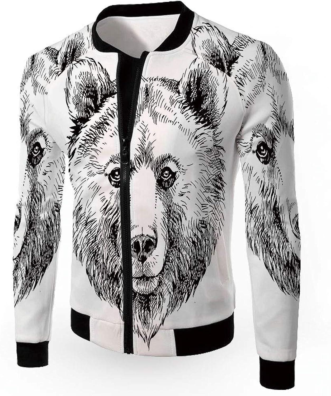 iPrint Windbreaker Jacket,Animal,Men's Jacket,Animal,Men's Jacket