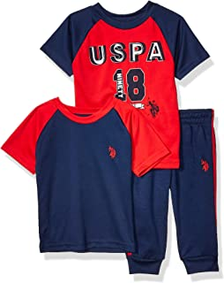Boys' Short Sleeve Athletic, T-Shirt, and Jogger Set