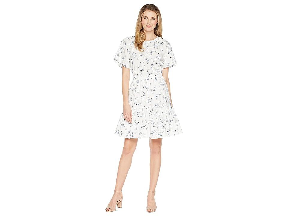 Rebecca Taylor Sleeveless Francine Dress (Snow Combo) Women