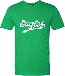 Adult Eagles Script Distressed Deluxe T-Shirt