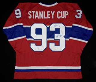 Patrick Roy & John Leclair Autographed Custom Jersey (canadiens) - Coa! - JSA Certified - Autographed NHL Jerseys