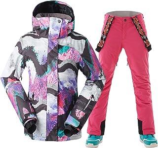 GSOU SNOW Women Ski Jacket Pants Snowboarding Windproof for Winter Sports
