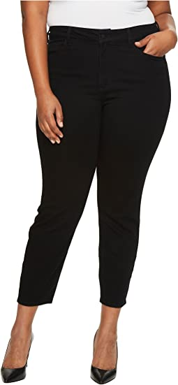 NYDJ Plus Size Plus Size Alina Ankle Jeans in Luxury Touch Denim in Black Garment Wash