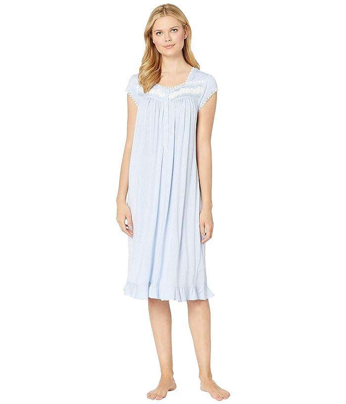 Eileen West Modal Spandex Waltz Nightgown (Light Perri Dot) Women
