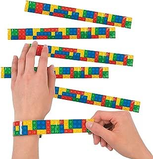 Fun Express Color Brick Party Slap Bracelet for Birthday - Jewelry - Bracelets - Slap Bracelets - Birthday - 12 Pieces