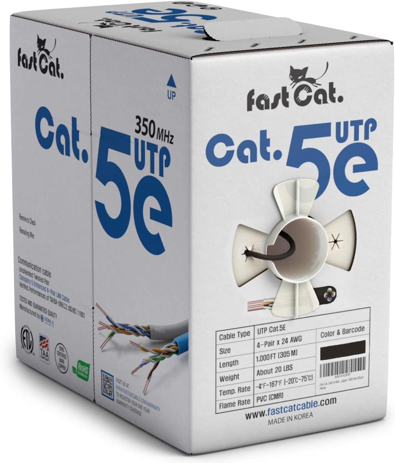 fast Cat. Cat5e Ethernet Ranking TOP14 Cable 1000ft AWG Insulated Austin Mall 24 B - CMR