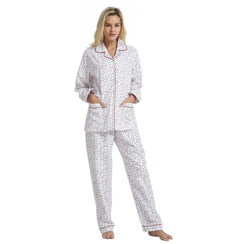 GLOBAL Womens Sleepwear Cotton Sleeve