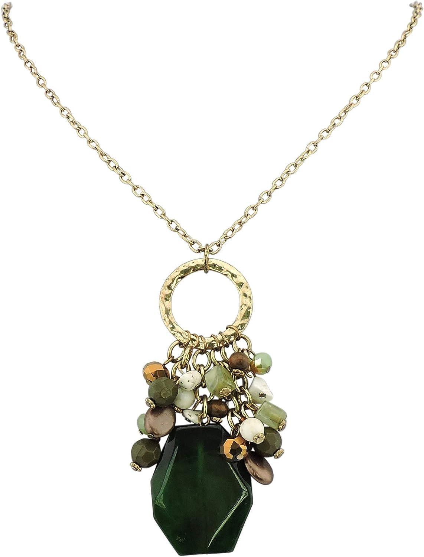 Bocar Long Antique Gold Chain Beads Fashion 33