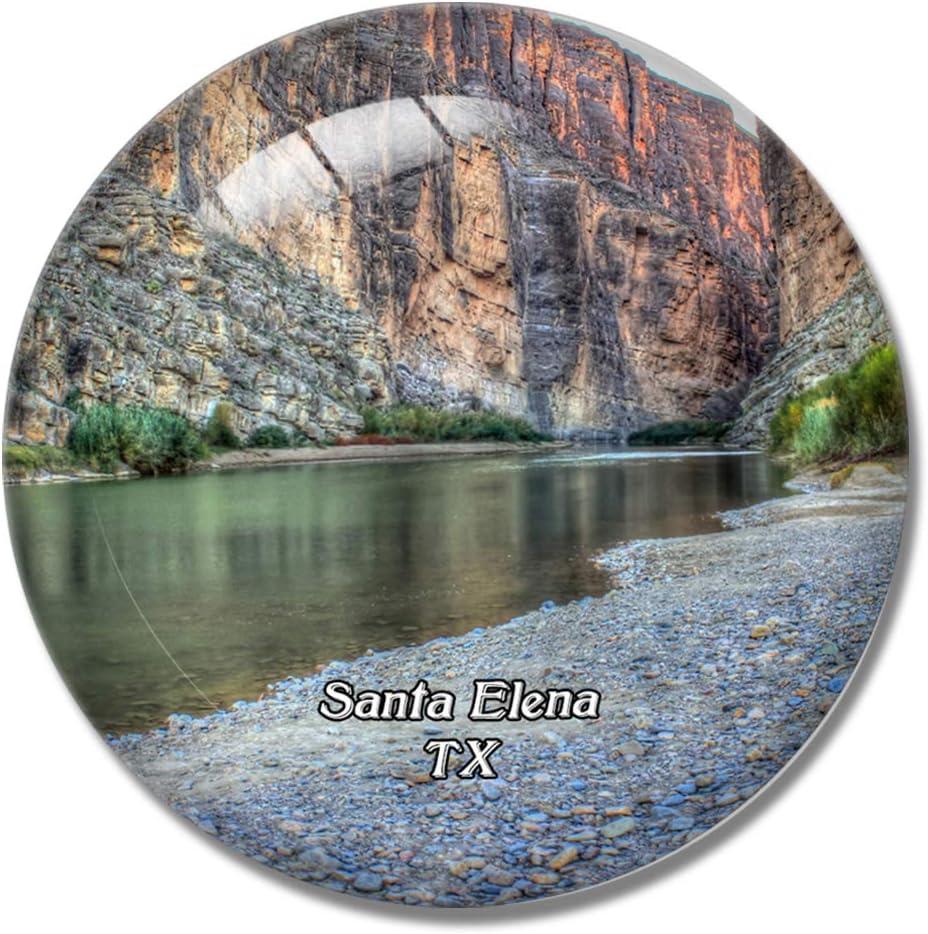 Imán para nevera 3D de Santa Elena Canyon Big Bend Park Texas, Estados Unidos