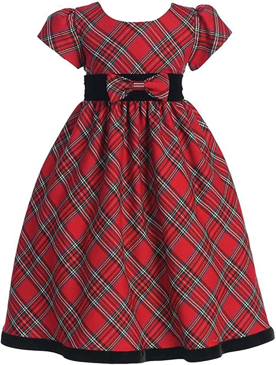 Lito Girls New Orleans Mall Holiday Christmas Dress Year's Cheap mail order specialty store Plaid