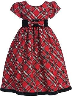Girls Holiday Christmas Year's Plaid Dress