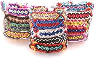 14Pcs Lace up Woven Bracelet Boho Handmade Braided Colorful Wrap Bracelet for Women