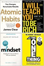 Atomic Habits, I Will Teach You To Be Rich, Mindset, The One Thing 4 Books Collection Set