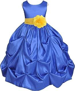 Royal Blue Pick-up Bubble Taffeta Flower Girl Dresses Graduation Dress Birthday Girl Dresses 301s