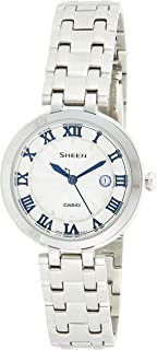 Casio Sheen Women's Silver Dial Stainless Steel Band Watch - SHE-4033D-7AUDR