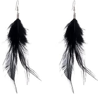 Best black feather earrings Reviews